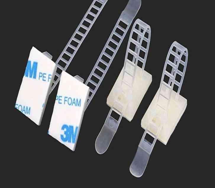 10pcs/cl-3 Adjustable Cable Clamps, Wire Cable, Tie-mounts