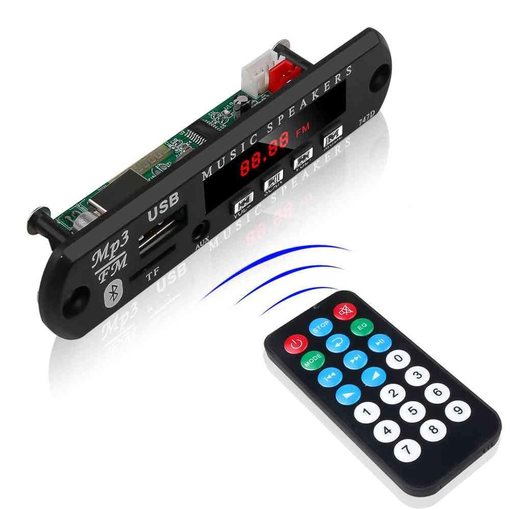 Bluetooth Handfree 5-12v Decoding Board -with Remote Control