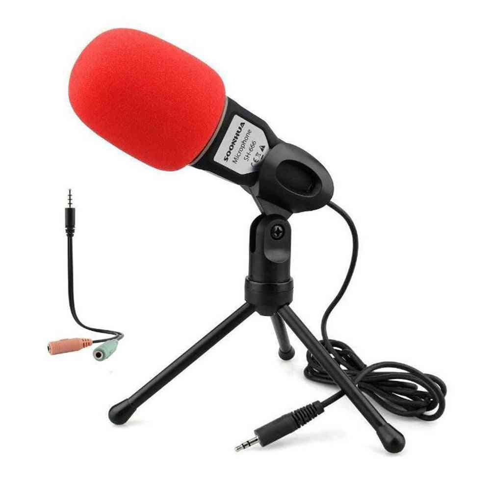Professional Studio Microphone With Tripod  For Pc