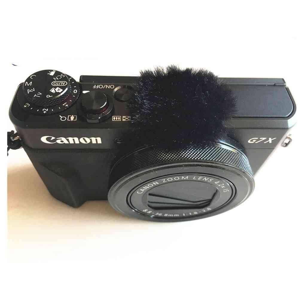 6pcs Windschalldämpfer tote Katze für Canon - Mikrofonabdeckung für Canon - Schwarz