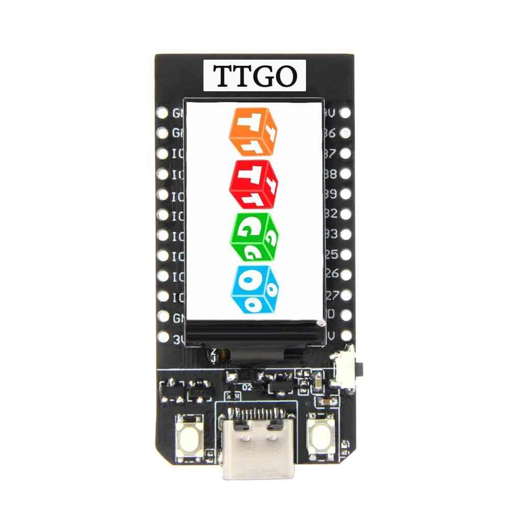 T-display Esp32 Wifi And Bluetooth Module, 1.14 Inch Lcd Control Board