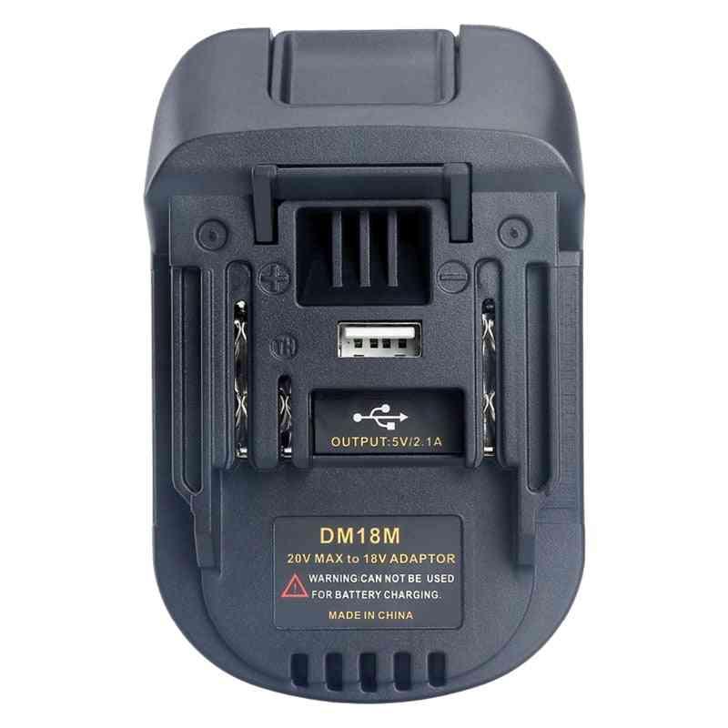20v/18v Battery Convertor Adapter Dm18m For Dewalt