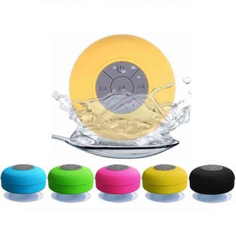 Waterproof Mini Wireless Bluetooth Speaker, Hands Free  Stereo Subwoofer Music Loudspeaker With Suction