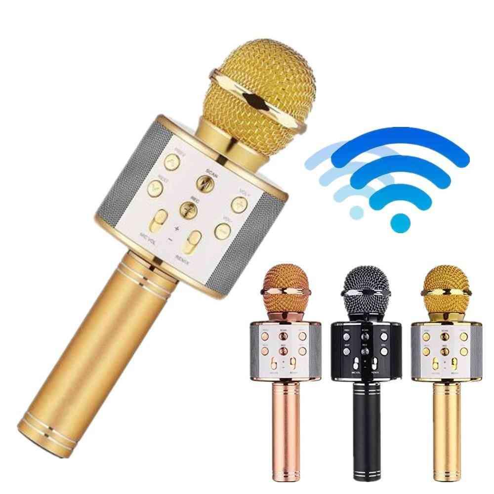 Wireless Usb Microphone, Professional Condenser Karaoke Mic Bluetooth Stand Radio