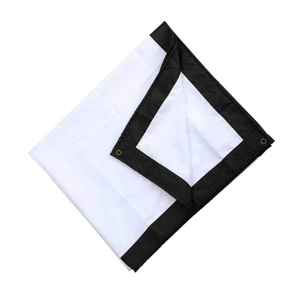 Foldable Projector Screen Cloth With Hooks