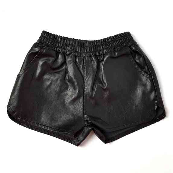Summer Fake Leather Baby Girls And Boys Shorts