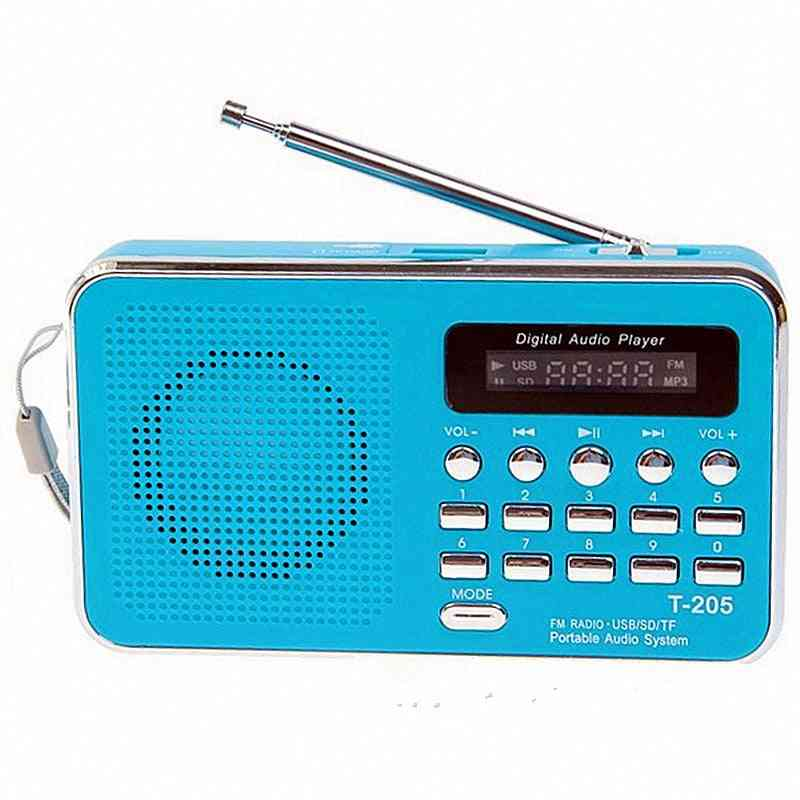 Portable Receiver, Usb Stereo Mini Speaker Fm Radio