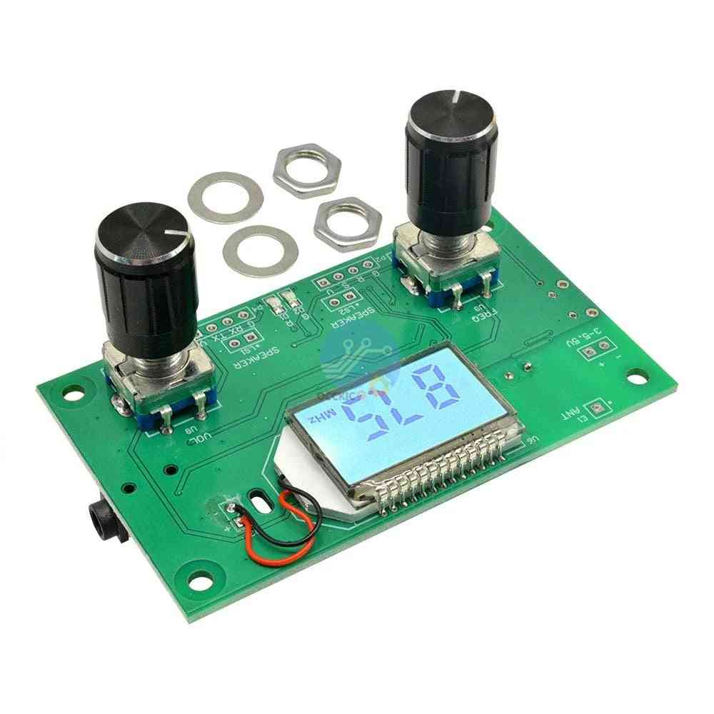 Fm Radio Receiver Module Frequency Modulation Stereo Receiving Board With Lcd Digital Display