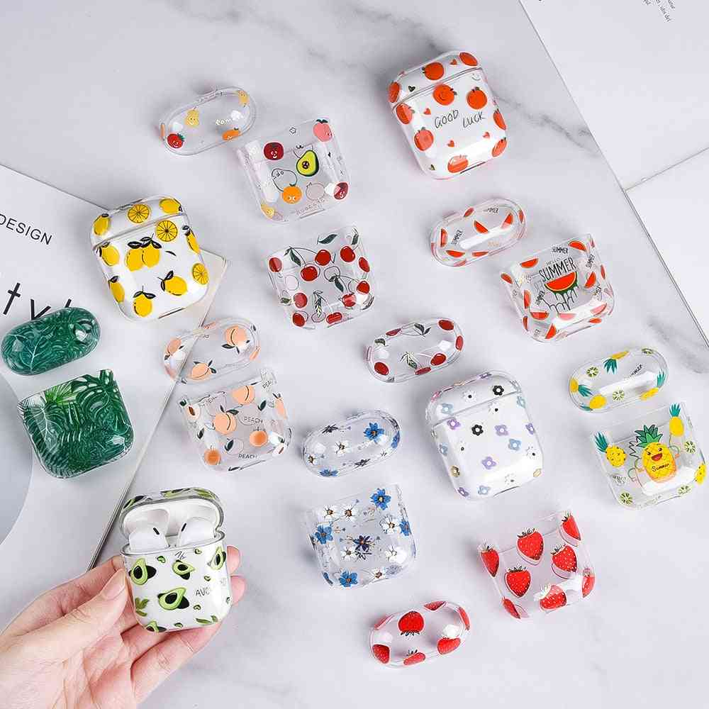 Air Pods Case- Flower Transparent Clear Hard Plastic Cover