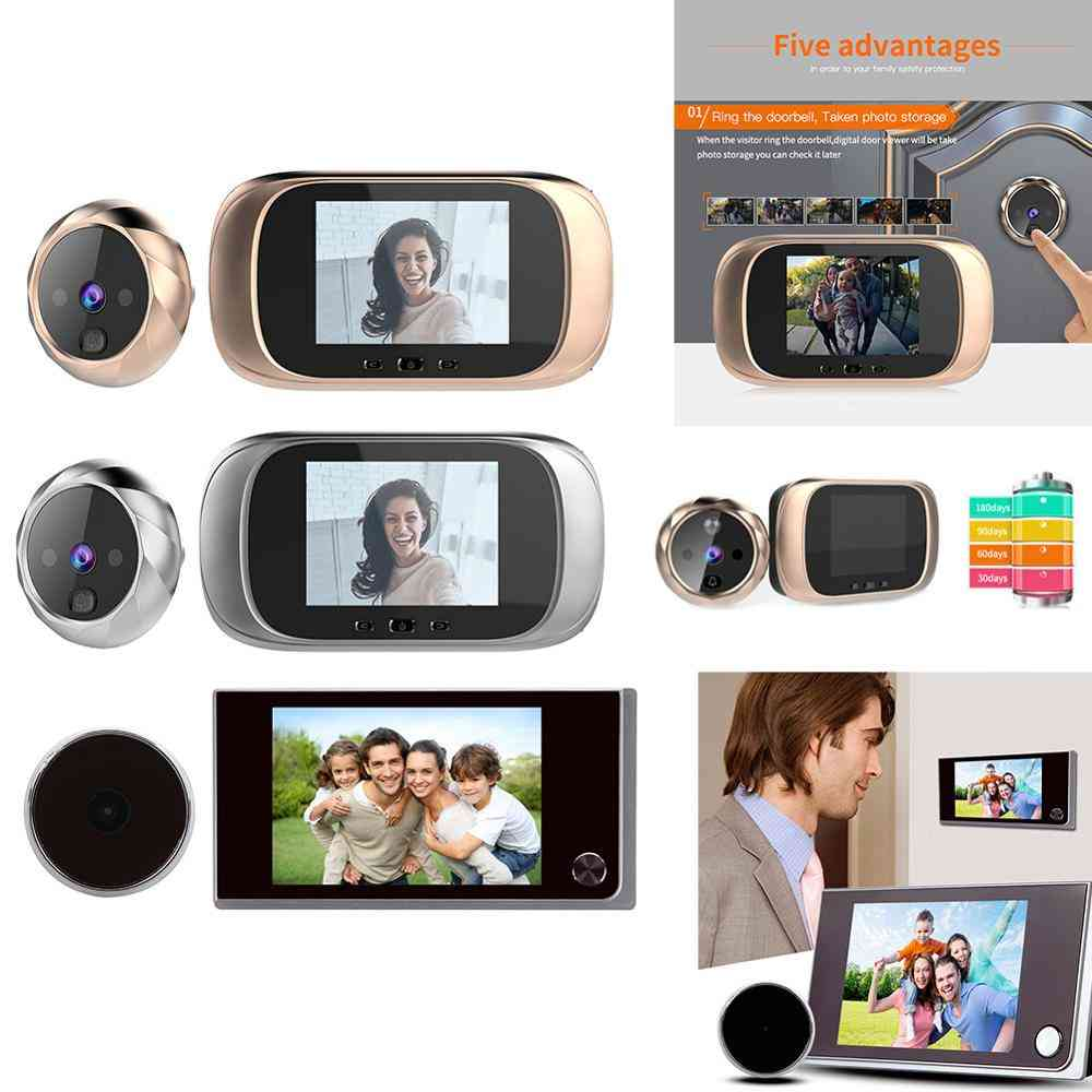 120 Degree Lcd Color Digital Doorbell With Camera Viewfinder