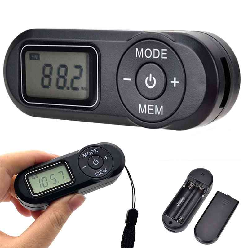 Portable Mini Digital Fm Radio With Earphone