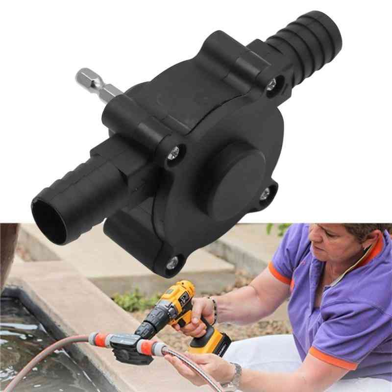 1pc Of Portable Electric Hand Drill- Self Priming Pump With Hose Clamp