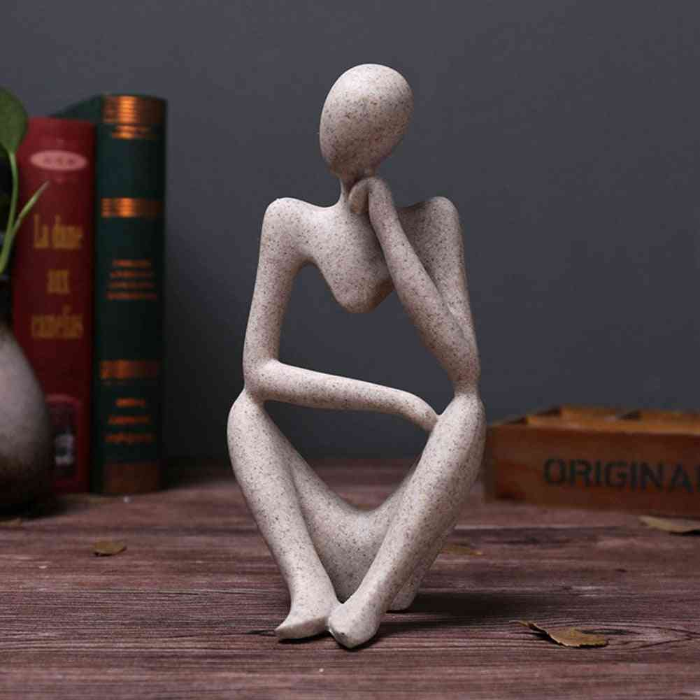 Creative Resin Statues, Abstract Thinker People - Home Decoration Figurine