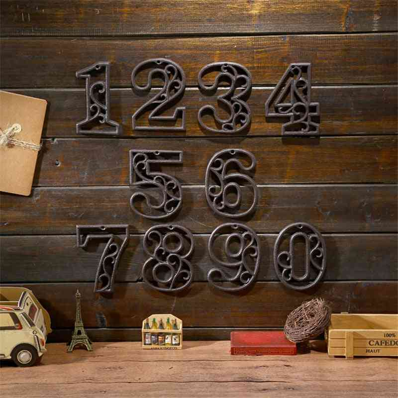 High End Cast Iron, Digital Wall Decoration Number Plate