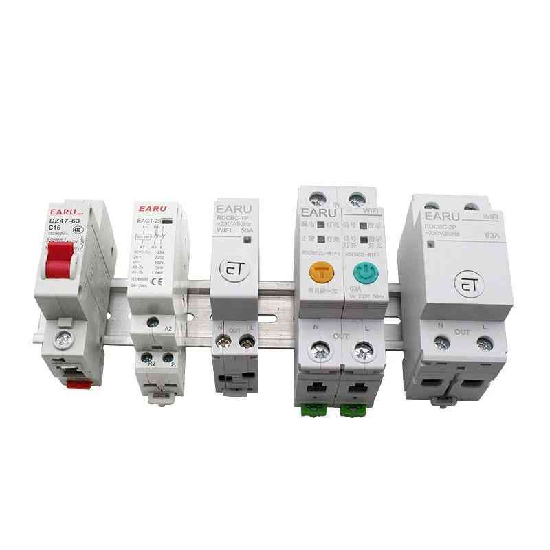 1p Din Rail Wifi Circuit Breaker- Smart Timer Switch Compatiable With Alexa Google