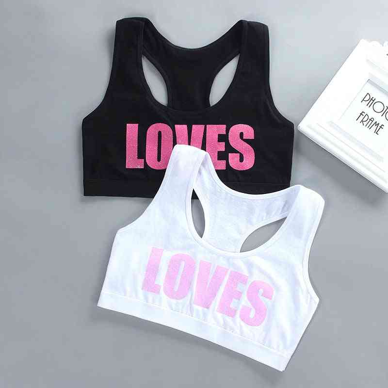 Letter Printed Sports Bra For Teenage