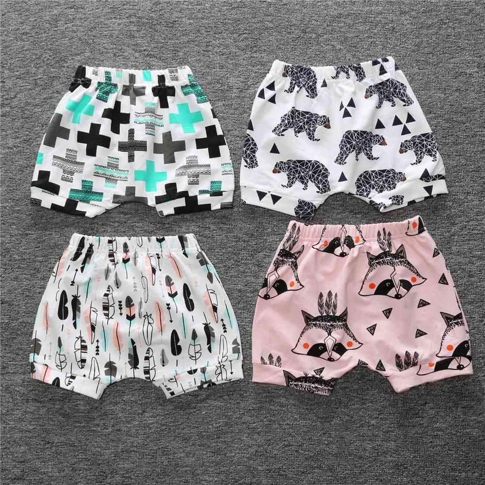 Printed Cotton Elastic Waist Shorts
