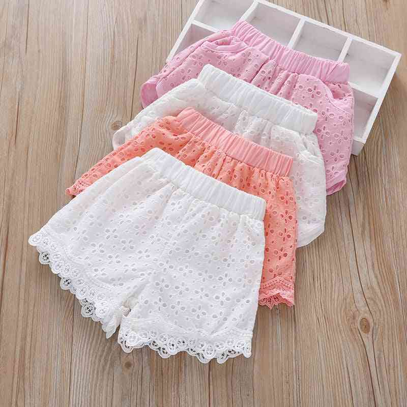 Cute Lace And Pocket Beach Pants For
