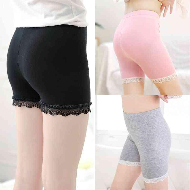 Girl Shorts Pants, Solid Underwear, Soft Elastic Cotton Leggings