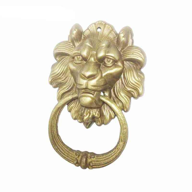 Vintage Brass, Lion Head Design Door Knocker
