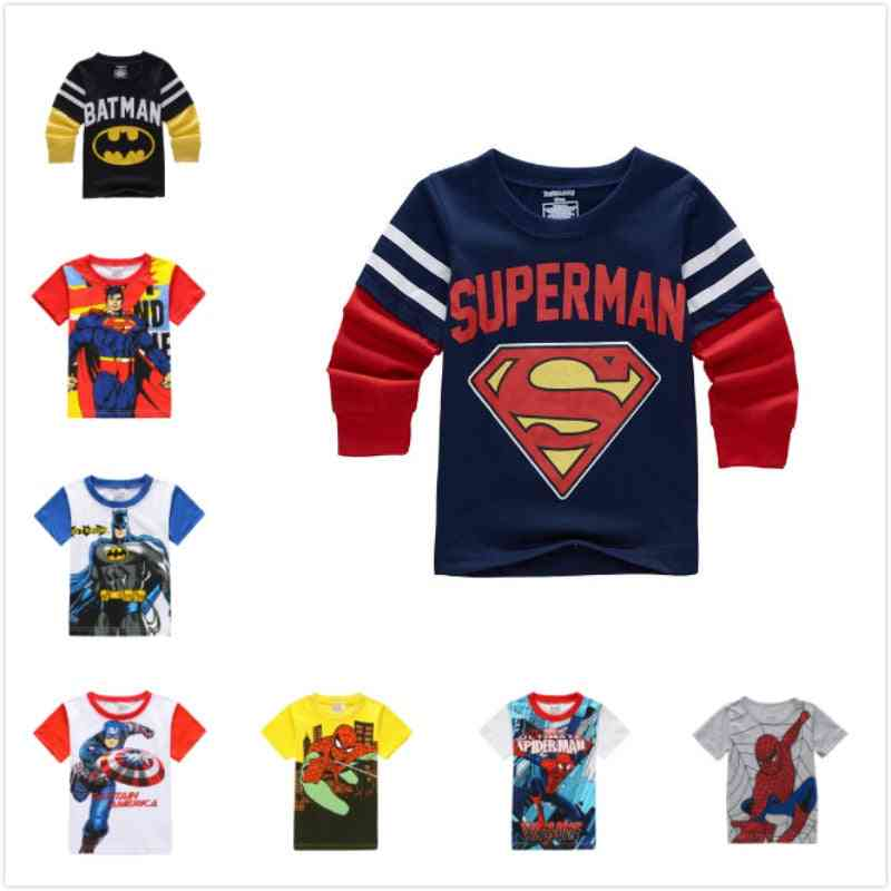 Long Sleeve T Shirts For, Batman & Superman Movies Printing / Clothes