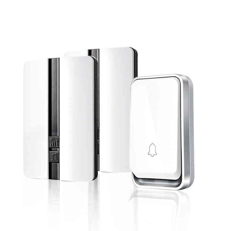 150m Self Generating Waterproof Wireless Doorbell, Receiver Battery Button