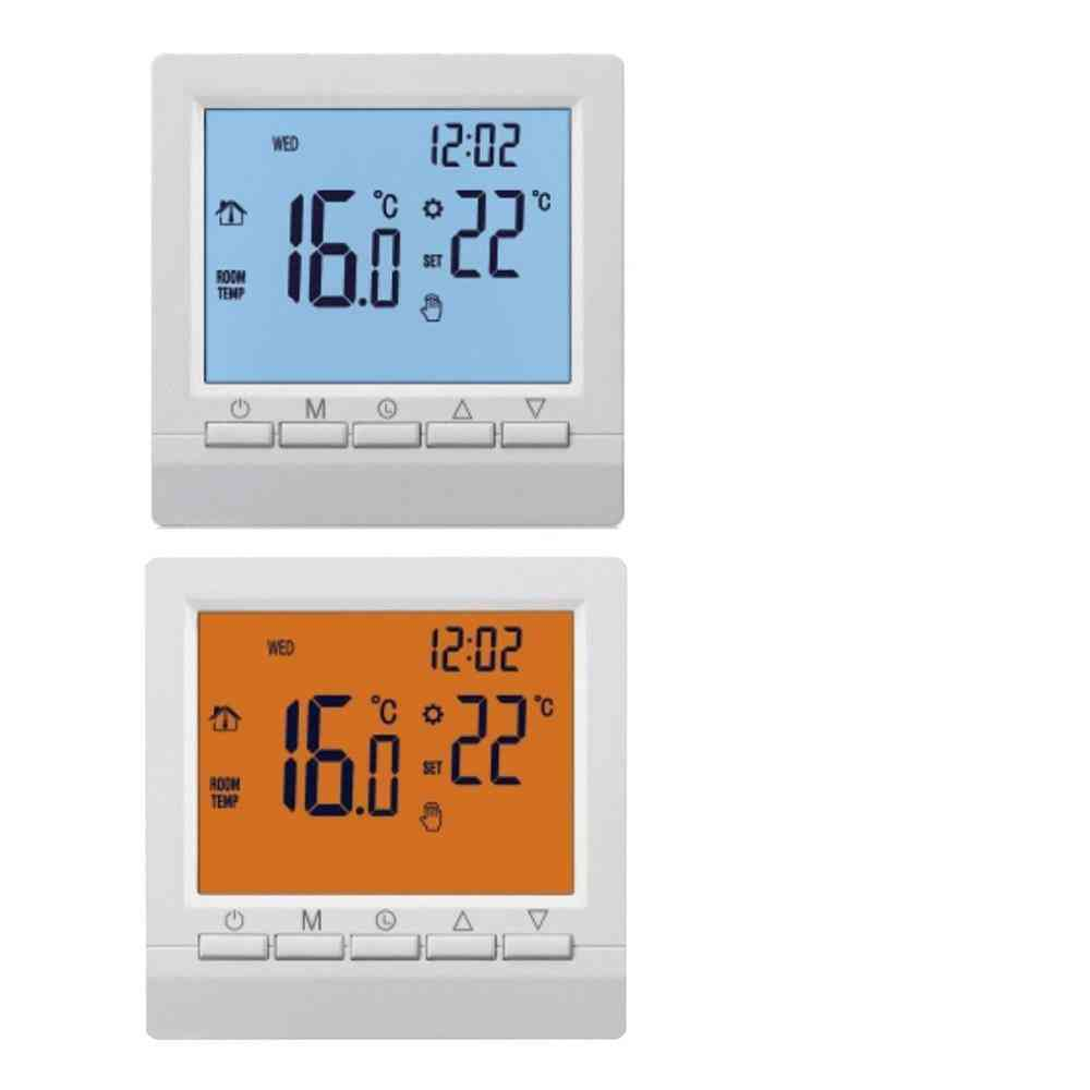 Programmable Thermostat For Electric Gas Boiler, With Digital Lcd Display