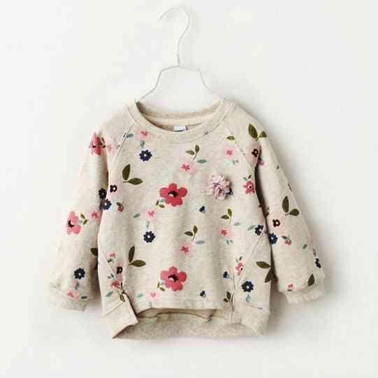 Girls Sweater, Bottoming Shirt Flower Collar For Autumn