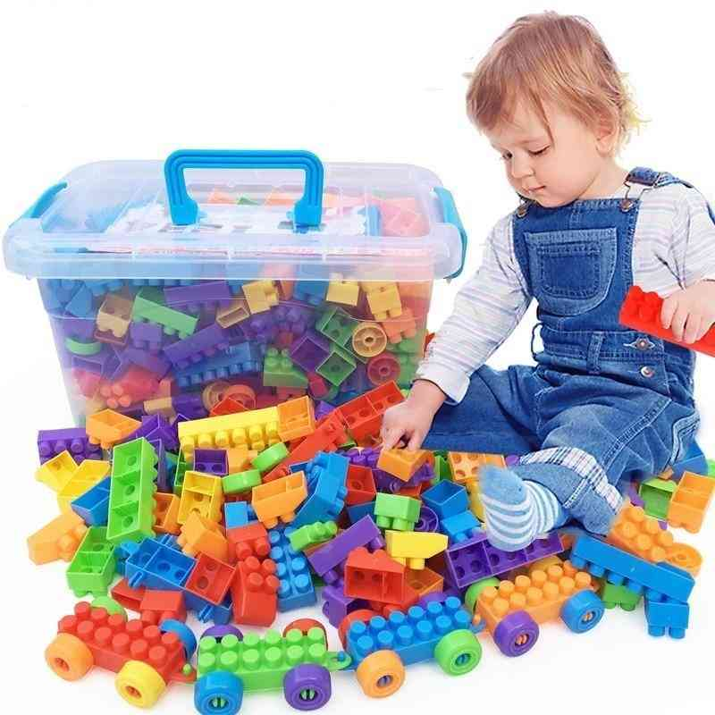 Inserting And Assembling Large Particle Building Blocks -educational Toys