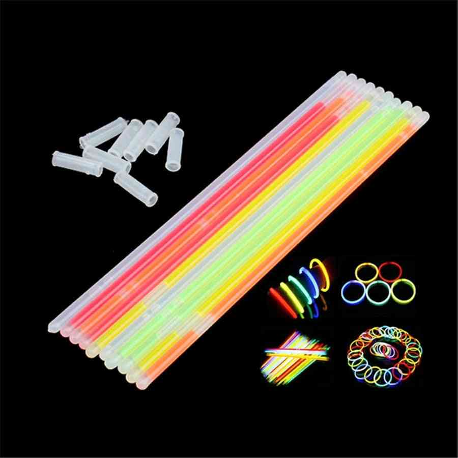 , Glow In The Dark Luminous Glowstick Bracelets