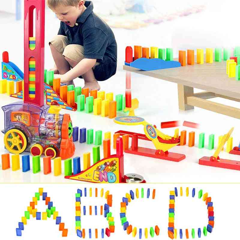 Domino Train Toy Set, Building Blocks For