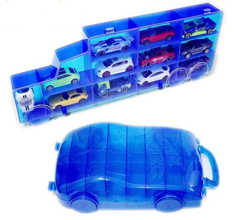 Portable Plastic Storage Wheels Box, Diecast Models Car For