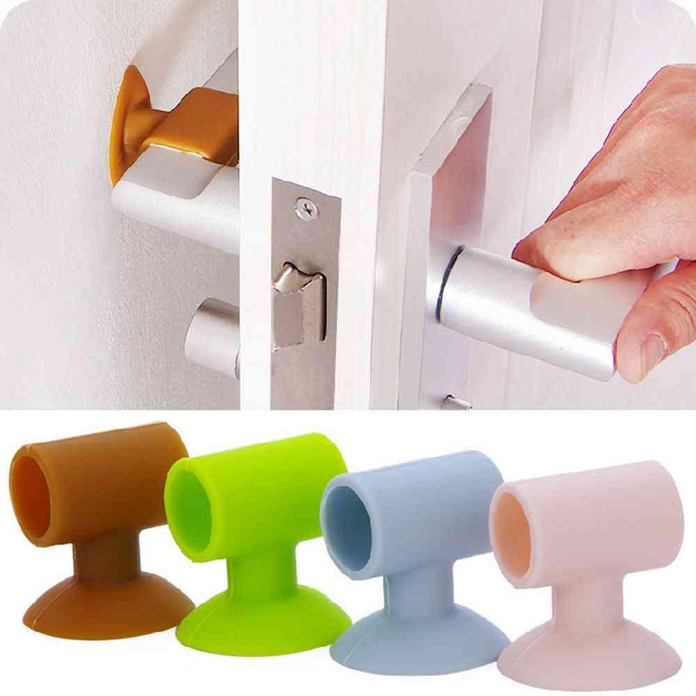 Door Handle Crash Pad, Rubber Knob Lock Bumper Guard Stopper