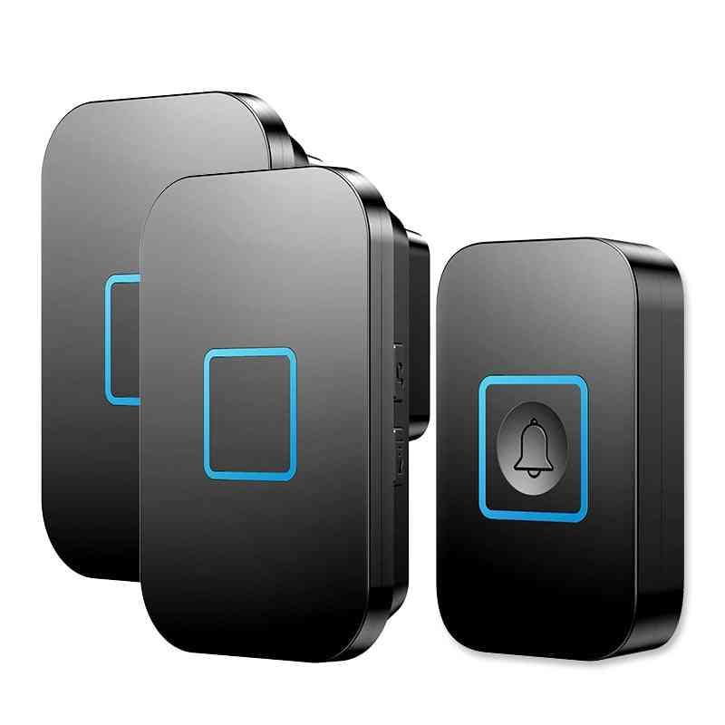 Wireless Waterproof Doorbell Button Receiver -smart Led Ring