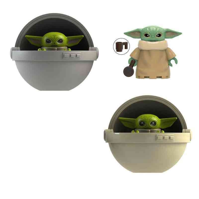 Building Block Star Wars Baby Yoda Figures, Construction