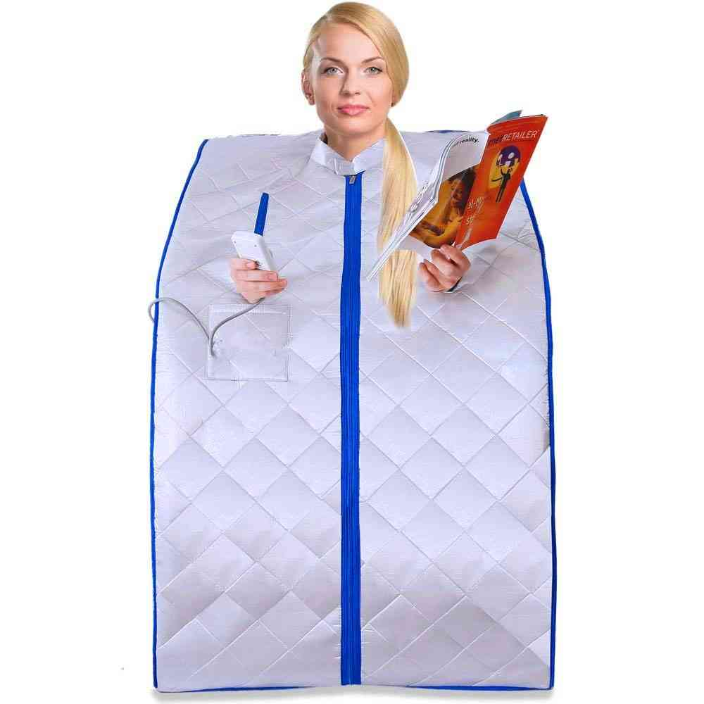 Portable Infrared Sauna Spa Tent,  Folding Chair, Heating Foot Pad And Remote Control Set