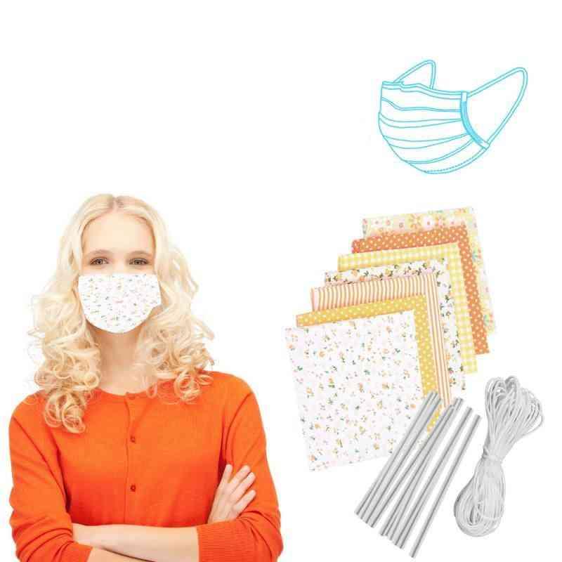Hand Stitched Cotton Cloth Diy Mask Kit