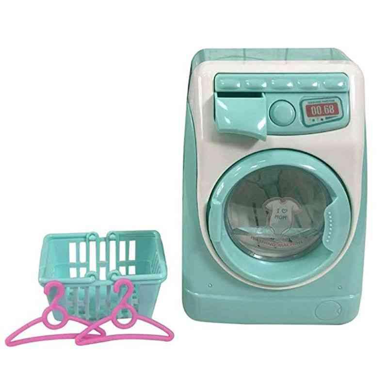 Mini Simulation Washing Machine-pretend Play For Kids