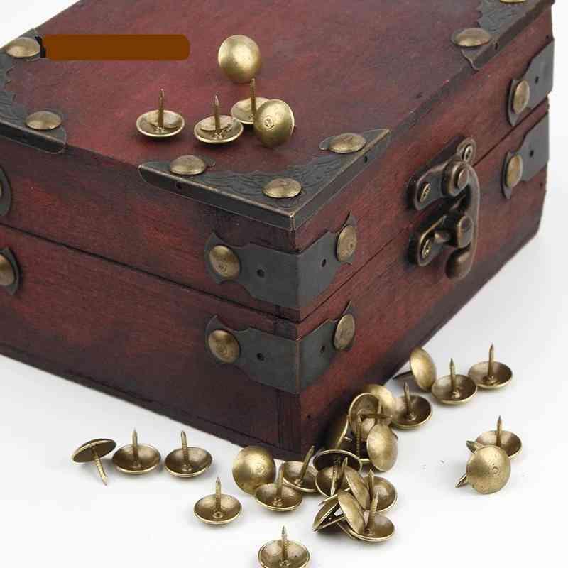 Iron Bronze Antique Brass, Upholstery Nail Jewelry, Box -sofa Decorative For Furniture Tacks Pushpins