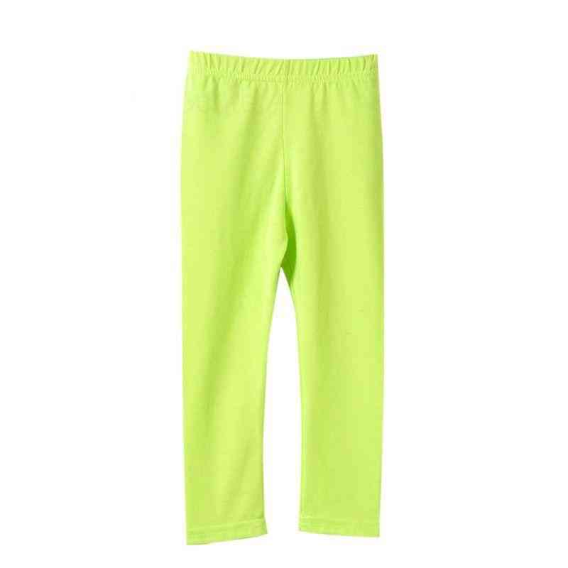 Girl Pants Soft Elastic, Cotton Leggings, Skinny Trousers Set-1