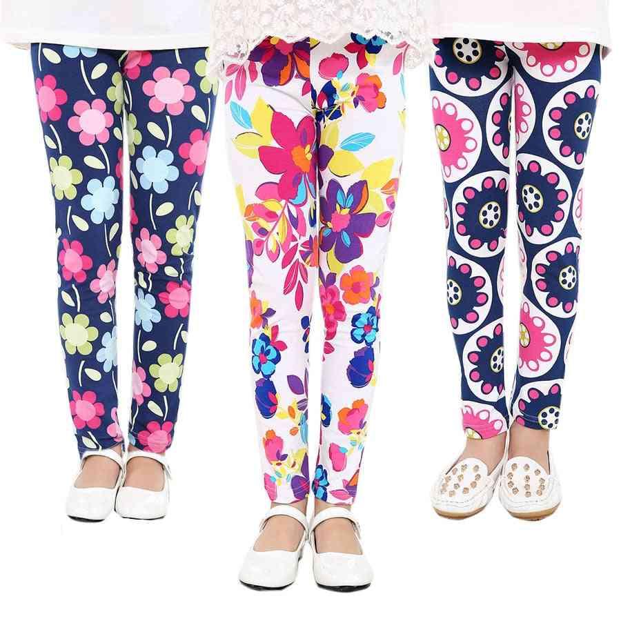 Flower Print Classic Leggings For