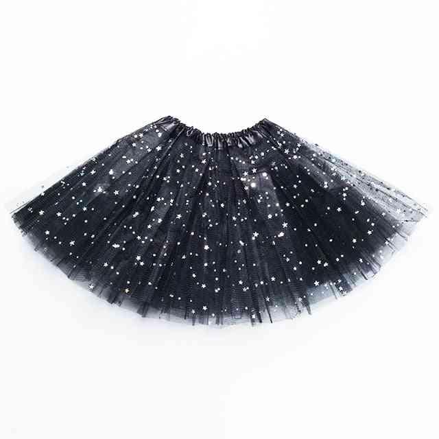 Skirts Star Print Mesh, Princess Ballet Dancing Party Skirt