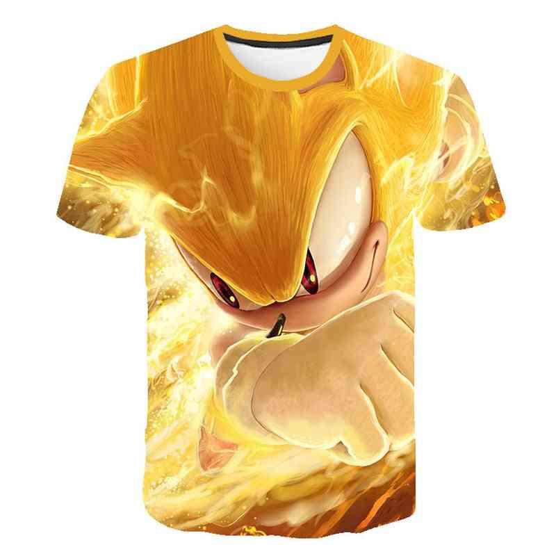 Short Sleeve, 3d Cartoon Printed - T Shirt For (set-2)