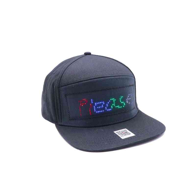 Bluetooth Led Hat With 12*48 Bigger Size, Baseball Cap