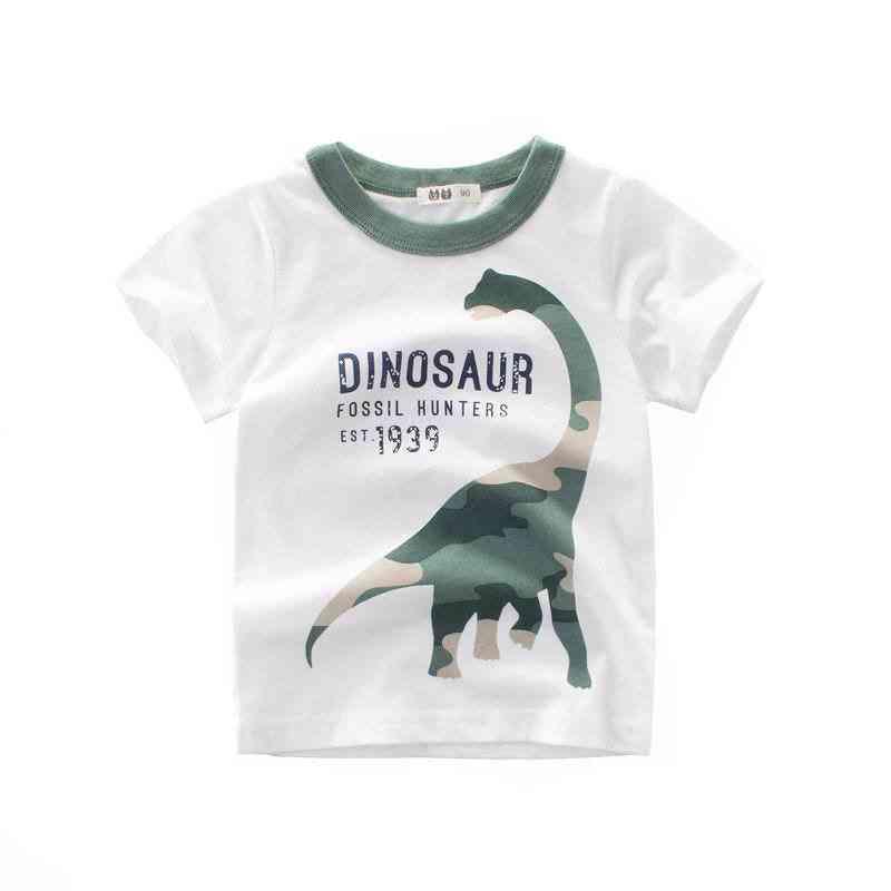 Baby & Dinosaur Pattern T-shirt Set