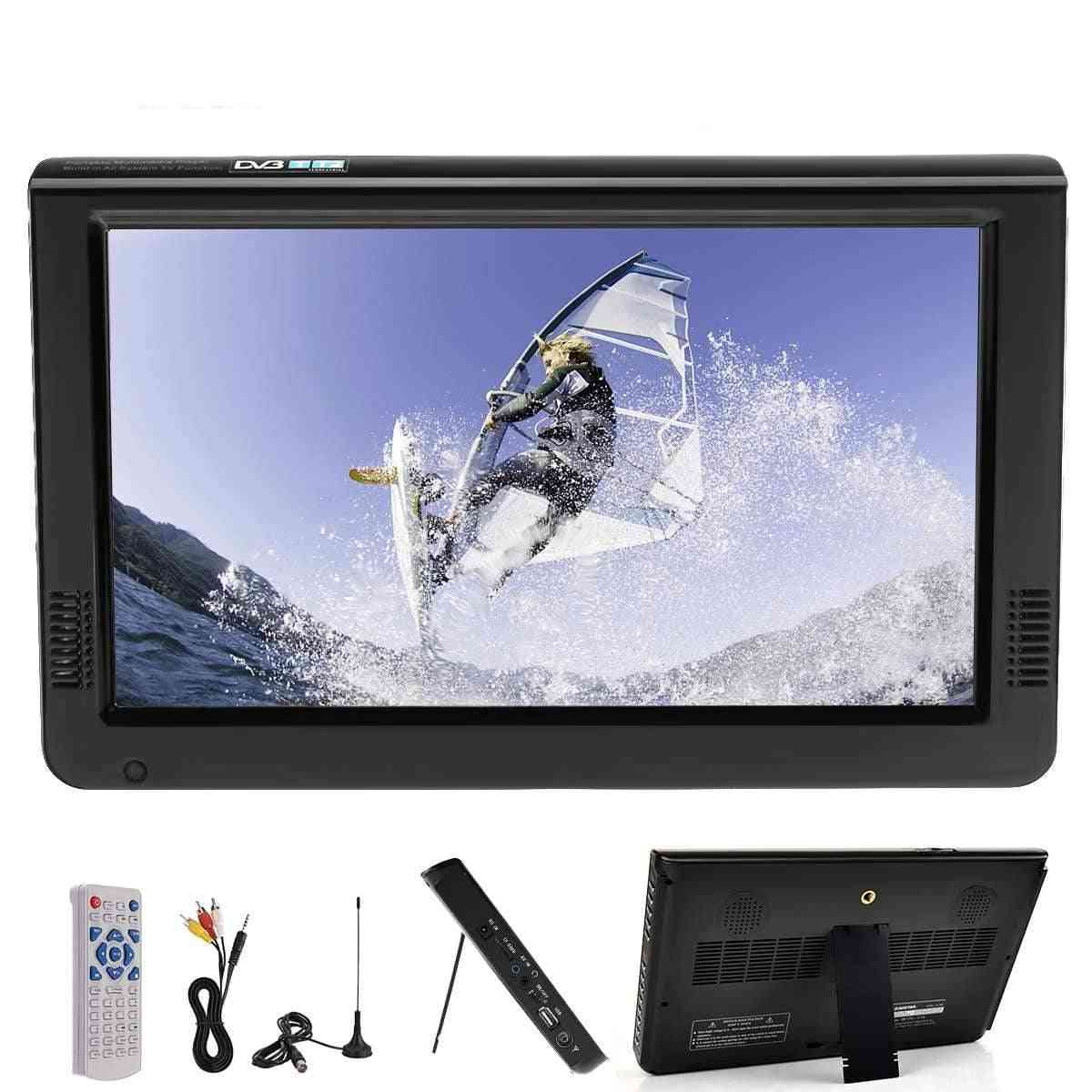 Portable Car Outdoor 16:9 Digital Analog Television, 10.2'' Led Lcd Hd Support Tf Card Audio
