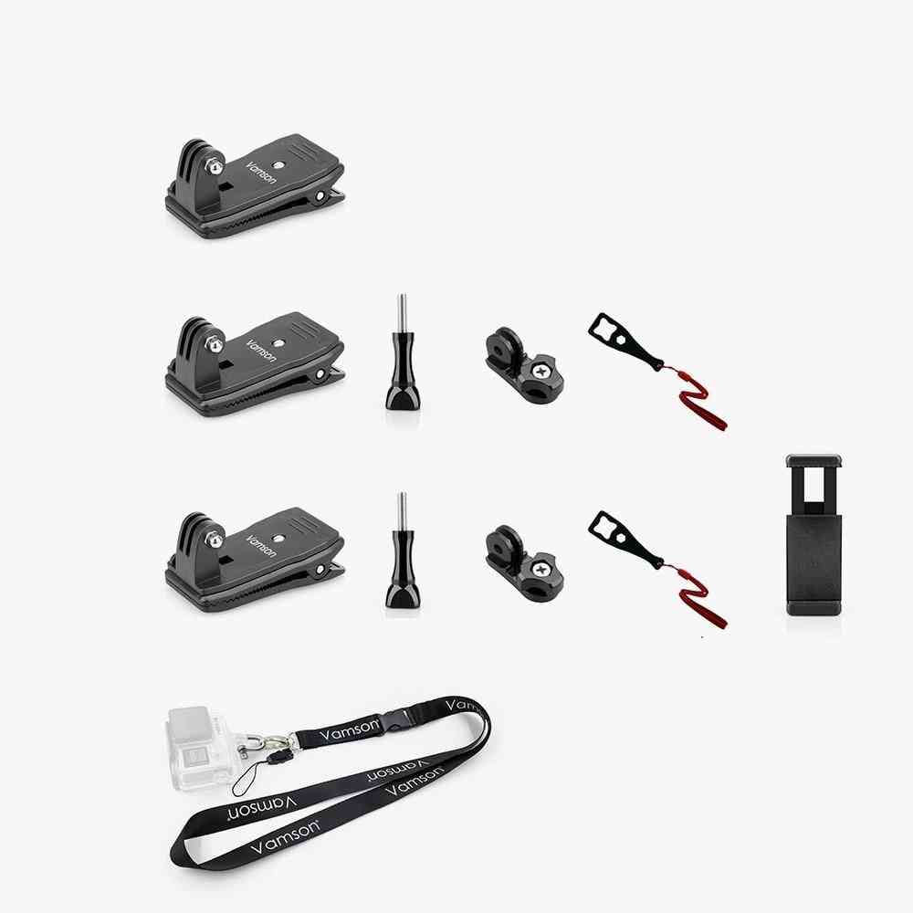 Vamson Led Strip Light, Gopro 8 Accessories Backpack Clip Clamp Mount For Eken Action Camera