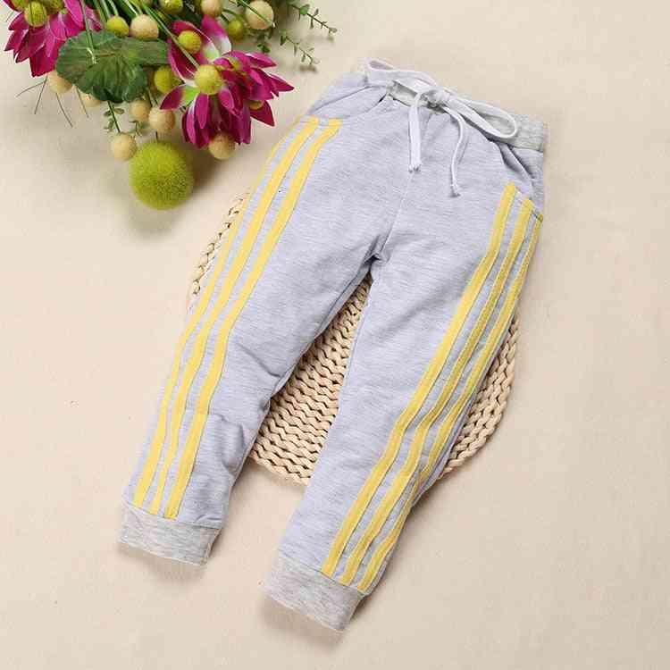 Winter Autumn Kids Pants- Cotton Three Bars's Track Pants, / Pants Clothes