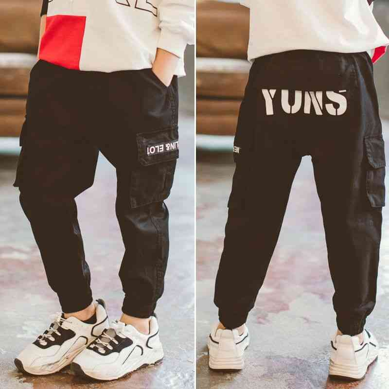 Boys Cargo Letters Pants- Casual Kids Clothes
