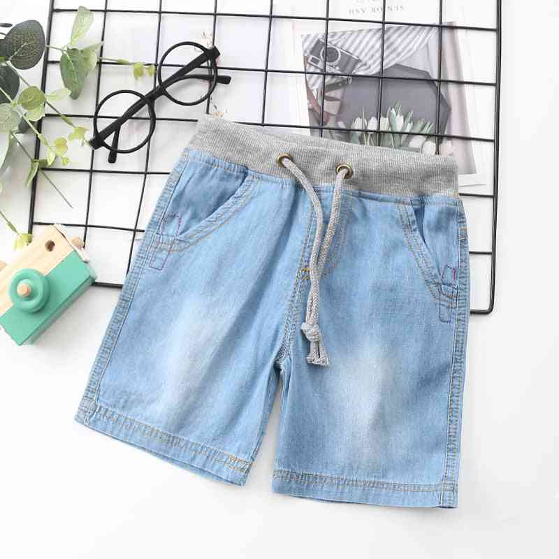 Casual Cotton, Thin Denim Fabric- Shorts And Knee Pants For Kids